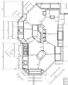 2nd Draft Kitchen Floor Plan for other client Kitchen Universal