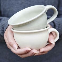 Enjoy your morning cup of tea or afternoon coffee, in our exclusively hand thrown ceramic mugs! #plumandashby