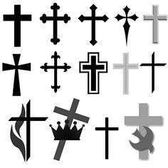 Religious and Christian Symbol Brushes for Photoshop and Elements: Christian Cross Brushes
