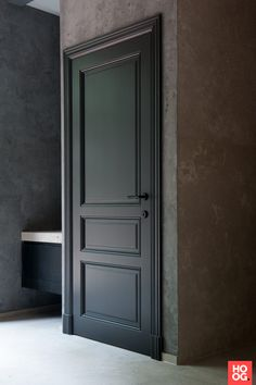 Black Interior Doors - Dramatic Or Conventional? When you need a truly dramatic, dramatic look, nothing is more dramatic than the use of black interior doors. Black doors give you the kind of feel that . Dark Interior Doors, Traditional Interior Doors, Discount Interior Doors, Frosted Glass Interior Doors, Door Design Interior, Front Doors With Windows, Wood Front Doors, Wooden Doors, Entry Doors