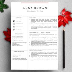 creative teacher resume template for word pages mac pc