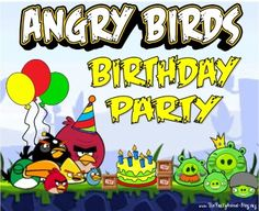 Angry Bird birthday party ideas!