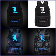 Check these awesome Death Note glowing backpacks on our online store. Visit us to explore all our Death Note merchandise! Anime Inspired Outfits, Anime Outfits, Totoro Backpack, 6th Grade Outfits, Naruto Sharingan, L Death Note, Anime Merchandise, Punk Fashion, Laptop Bag