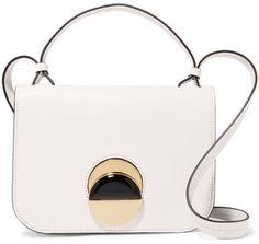 Shop Now - >  https://api.shopstyle.com/action/apiVisitRetailer?id=648879890&pid=uid6996-25233114-59 Marni - Pois Leather Shoulder Bag - White  ...