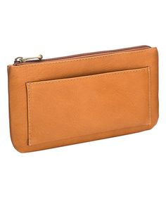 Love this Tan Leather Clutch on #zulily! #zulilyfinds