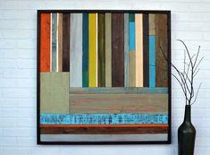 Rustic Reclaimed Wood Art Sculpture 36x36 by moderntextures