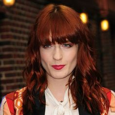 I love everything about this hair color Color Formula:  Florence Welch's  Coppery Rose Behind The Chair - Articles