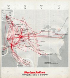 Route Map - Western Airlines