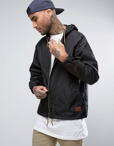Get this Brixton's sport jacket now! Click for more details. Worldwide shipping. Brixton Windbreaker Jacket - Black: Windbreaker jacket by Brixton, Smooth woven nylon, Drawstring hood, Raglan sleeves, Zip fastening, Functional pockets, Drawstring hem, Regular fit - true to size, Machine wash, 100% Nylon, Our model wears a size Medium and is 193cm/6'4 tall. Created in 2004, Brixton is inspired by music and culture and the people who surround them, conveying a laid-back lifestyle through their…