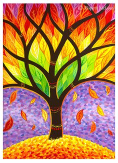 Autumn- Releasing the Old by Elspeth McLean #treeoflife #autumn #autumnleaves