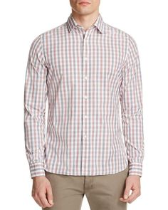 The Men's Store at Bloomingdale's Bicolor Gingham Classic Fit Button Down Shirt