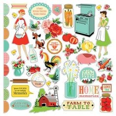 carta bella country kitchen ephemera and tags and frames products