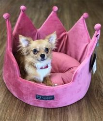 Crown Bed In Micro Plush Pink Beds Blankets Furniture Crate