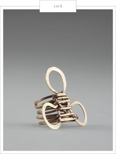Alexander Calder Tightly wound coils of lustrous metal
