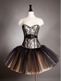 Champagne Gothic Burlesque Short Corset Prom Party Dress