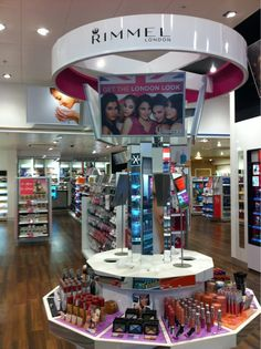 cosmetics test and play table - Superdrug Wimbledon @Lockerz