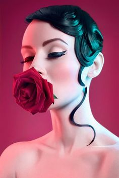 Inspiration shooting photo. Hair for edito - #rose #makeup #liner