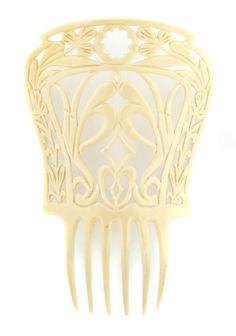 French ivory Peineta