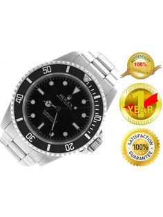 Mint Men's Rolex Submariner No-Date Stainless Black Watch 14060 M Y 40mm Watch