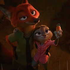 A shot of Nick Wilde and Judy Hopps with their arms around each other. This was taken from Zootopia UK trailer Zootopia-NickWilde and Judy Hopps 7 Walt Disney, Cute Disney, Disney Magic, Disney Art, Nick Wilde, Disney And Dreamworks, Disney Pixar, Disney Characters, Zootopia Characters