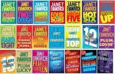janet evanovich series.  Love this series!  Makes me laugh out loud!