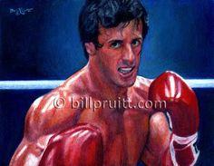 Sylvester Stallone Rocky Balboa Rocky 3 art print by billpruittart #Rocky3 #StalloneRockyBalboa