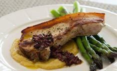 Pork Chops, Kumara Puree, Asparagus and Tapenade