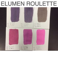 This weeks #elumenroulette I'm loving this game where I take 3 #goldwell…