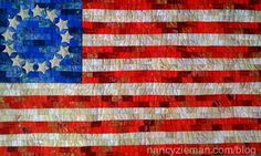 Get free quilting pattern and instructions for this Betsy Ross Flag from Nancy Zieman. Nancy Zieman, Quilting Projects, Quilting Designs, Quilting Ideas, Sewing Projects, Sewing Crafts, American Flag Quilt, Patriotic Quilts, Patriotic Crafts