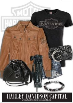 So my style!! cazadora mujer harley-davidson