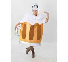 DisfracesMimo, disfraz de jarra de cerveza para adulto talla unica. Compra tu disfraz barato adulto para tu grupo. Este traje es ideal para tus fiestas temáticas de oktoberfest y de la cerveza.