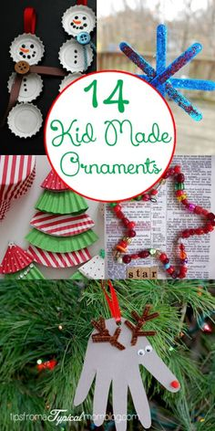 """Making homemade ornaments for the tree is a fun activity to do as a whole family. The kids really love making their own ornaments that will proudly be displayed on the """"imperfect"""" tree in our living room. I've rounded up some of the funnest and most kid friendly DIY Ornaments for you to choose from...Read More »"""