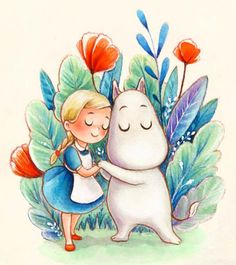 Children's Book Illustration, Watercolor Illustration, Butterfly Coloring Page, Moomin Valley, Tove Jansson, Art Pictures, Cute Animals, Artsy, Fan Art