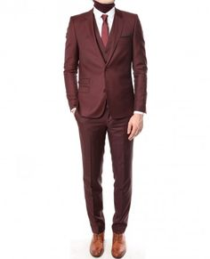 A burgundy suit I must own as it is dripping with swag!!!