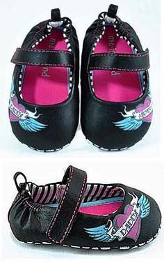 Punk Rock Baby Tattoo Mom & Dad Mary Jane Shoes - Jaminga