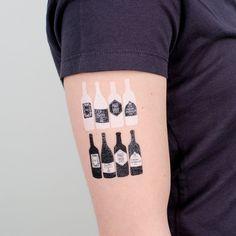 Bottle tattoos by Tattly. So cute!