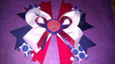 Anchor Hair Bow by BernadettesBoutique on Etsy, $5.50