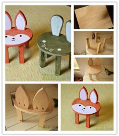 How To Make Cute DIY Toddler Stools | DIY Tag                                                                                                                                                                                 Más