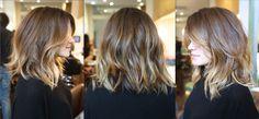 mid length brunette cut