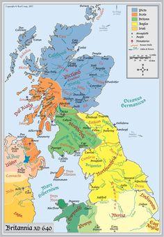 Interactive Map of Britannia circa 640