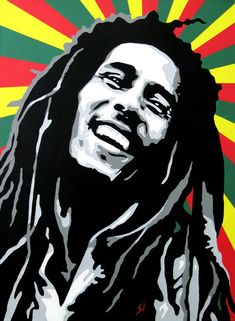 *Bob Marley* More fantastic paintings, pictures and videos of *Bob Marley* on: d. Bob Marley Kunst, Bob Marley Art, Reggae Bob Marley, Bob Marley Legend, Art Pop, Bob Marley Painting, Reggae Art, Bob Marley Pictures, Nesta Marley