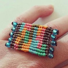 New spring/summer jewell collection. stay tuned for more😉 . Macrame Rings, Macrame Jewelry, Spring Fashion, Handmade Jewelry, Beaded Bracelets, Stay Tuned, Spring Summer, Design, Collection