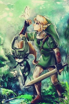 legend of zelda twilight princess, link, midna