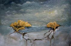 "Matthew Lawrence; Oil, 2011, Painting ""Brainstorm"""