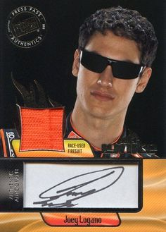 2012 Press Pass Ignite Racing Joey Logano Autograph Firesuit Card #II-JL by Ignite. $29.95. A M/NM 2012 Press Pass Ignite Racing Joey Logano Autograph Firesuit Card