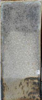 Glazeitorium: matt:  Neph. Sye. 44.4  Whiting 16.7  Silica 11.1  Kaolin 16.7  Talc 11.1     Copper Carbonate 1.1  Tin oxide 11.2