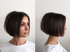 80 Bob Hairstyles To Give You All The Short Hair Inspiration - Hairstyles Trends Stylish Short Haircuts, Short Bob Haircuts, Short Straight Hairstyles, Short Blunt Haircut, Short Blunt Bob, Undercut Short Bob, Bob Hairstyles For Thick Hair, Brown Bob Haircut, 2018 Haircuts
