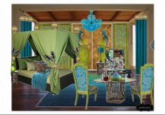 Check out this moodboard created on @Cheryl Brogan: Mrs. Peacock did it in the bedroom by carimurphy