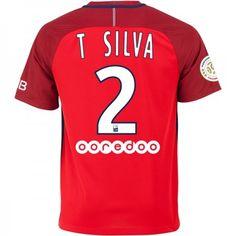 Paris Saint Germain PSG 16-17 Thiago Silva 2 Borte Drakt Kortermet.  http://www.fotballpanett.com/paris-saint-germain-psg-16-17-thiago-silva-2-borte-drakt-kortermet.  #fotballdrakter