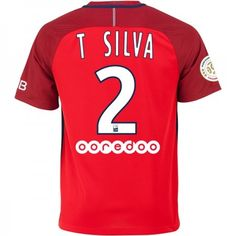 Paris Saint Germain PSG 16-17 #Thiago Silva 2 Udebanesæt Kort ærmer,208,58KR,shirtshopservice@gmail.com